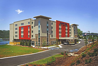 JDH Company built the roof for Springhill Suites, Chattanooga, Tennessee