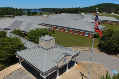 JDH Company is Proud to have installed the entire Metal Roof for Lafeyette High School in Lafeyette, Georgia.